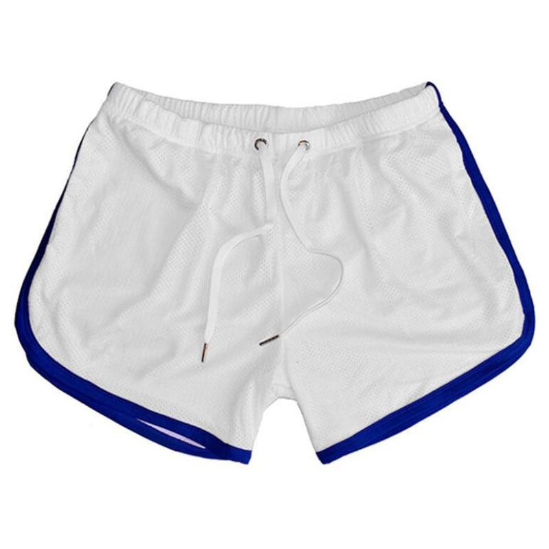 Спортивные мужские шорты стрелы для фитнеса, летние сетчатые свободные трусы с дырками, мужские боксеры, мужские шорты, модные Молодежные п...