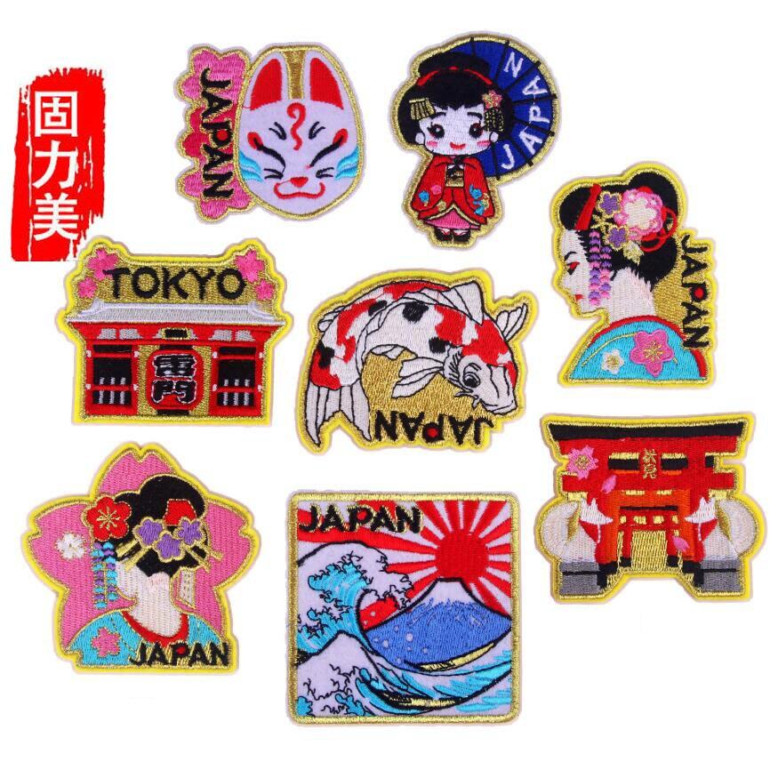 Parche de hierro para mujer, geisha japonesa de Tokio Japana house, 5 unidades
