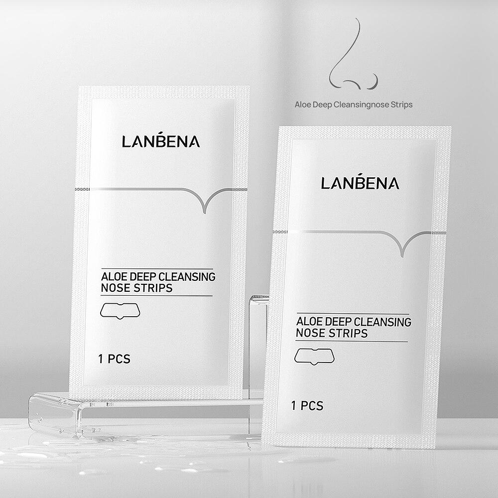 LANBENA Aloe Deep Cleansing Nose Strips Bagged Shrink Acne Pores Strip Exfoliating Oil Control Deep