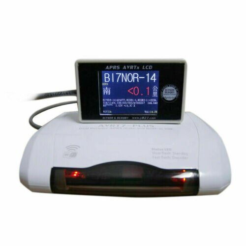 AVRT7 Plus Dual de RX decodificación WIFI edición APRS Gateway + Cable + pantalla LCD