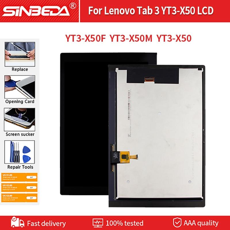 الأصلي لينوفو تبويب 3 YT3-X50F YT3-X50M YT3-X50 LCD عرض تعمل باللمس + شاشة التحويل الرقمي الجمعية اللوحي استبدال أجزاء