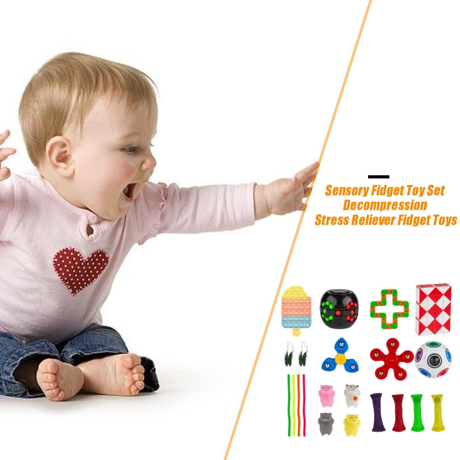Sensory Fidget Toy Set Durable Decompression Stress Reliever Non-toxic Fidget Toys For Children Adults enlarge