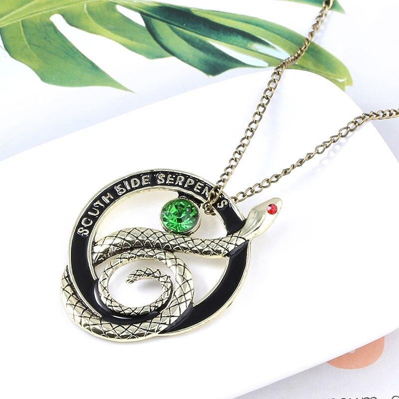 Collar con colgante de serpiente de la serie Riverdale de RJ TV, Gargantilla con letras de serpientes del lado sur Vintage, Collar de Stranger Things, regalo de joyería para niñas
