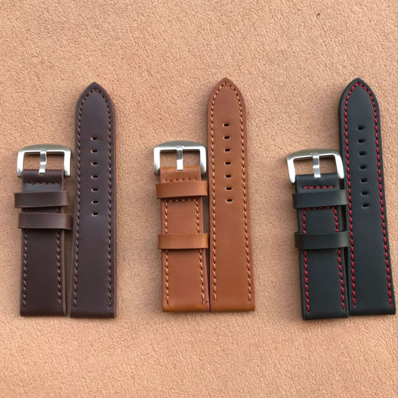 20mm coffee brown silicone jelly rubber unisex watch band straps wb1072s20jb New Women Men Watchband Genuine Leather Watch Band Straps Watch Accessories Coffee Black Belt Band 16mm 18mm 20mm 22mm