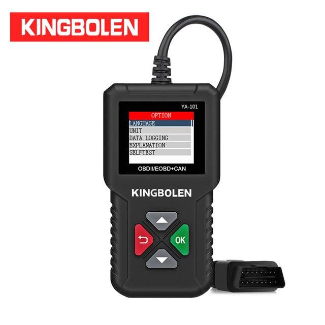 KINGBOLEN YA101 читатель Кода OBDII/EOBD (система бортовой диагностики, YA 101 Авто диагностический инструмент графика данных OBD2 реальные 16Pin DIY сканер CR3001