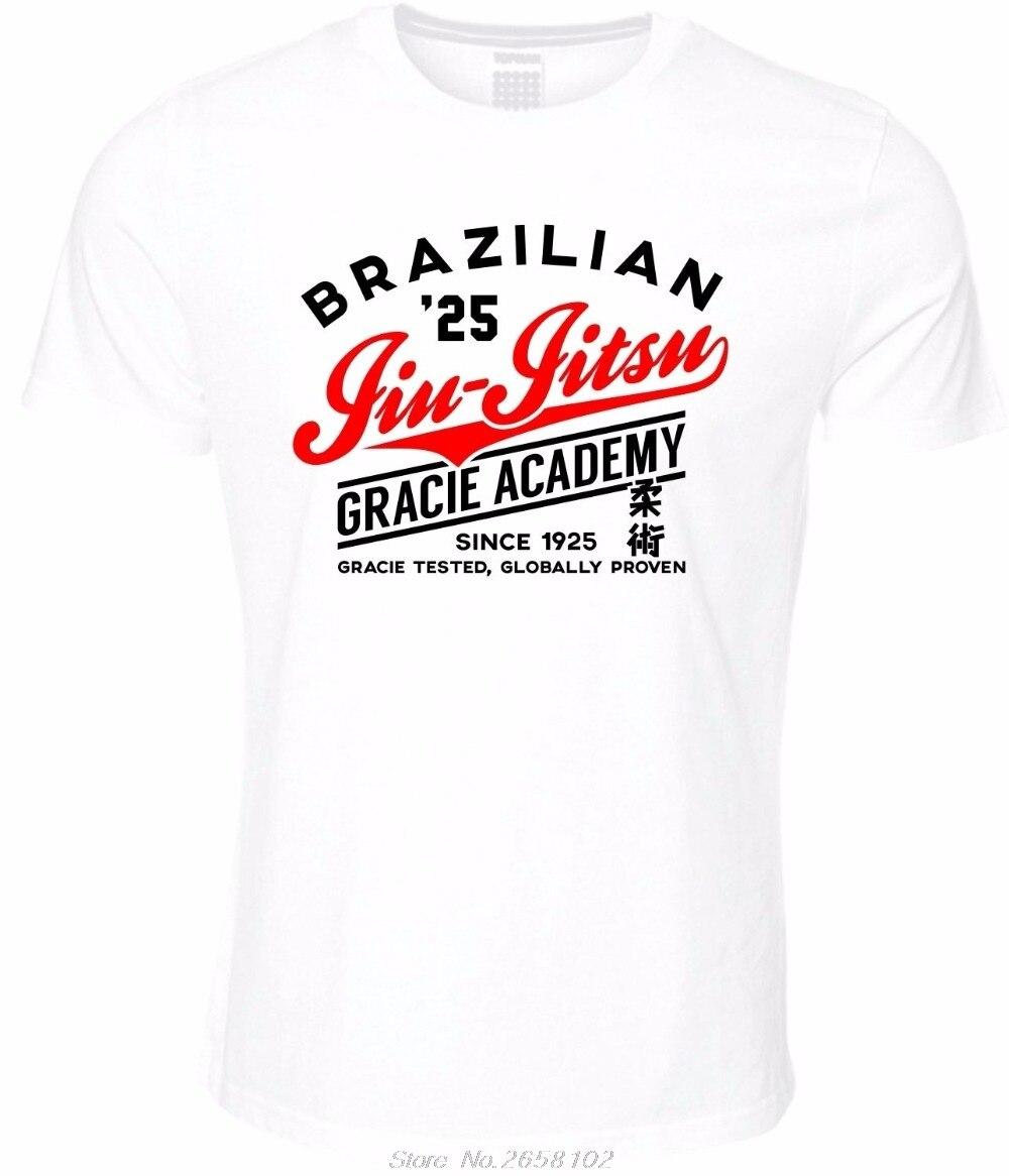 Мужская модная летняя новинка футболка с принтом бразильского джиу джитсу Gracie Academy, футболка, одежда для боевых искусств, футболка Bjj