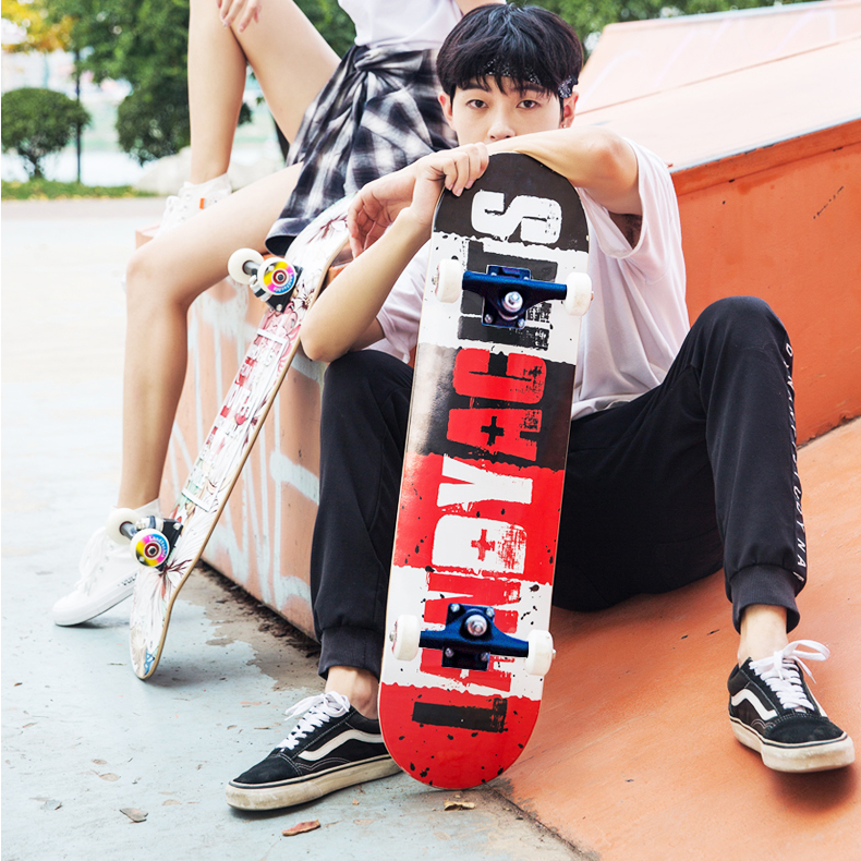 Защитный скейтборд Griptape, оборудование для начинающих, скейтборд с двойным рокером для начинающих, Lija, скейт, спортивные аксессуары DK50SB