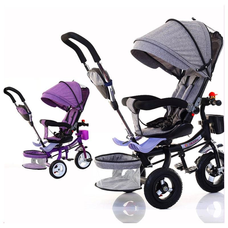 دراجة أطفال ثلاثية للطي دراجة ثلاثة عجلة دراجة أطفال عربة دوارة مقعد الطفل عربة يدفع باليدين عربة عربة للأطفال عربة