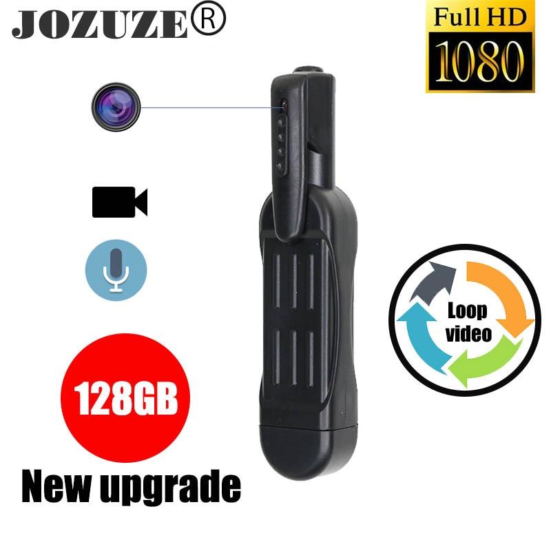 JOZUZE T189 كاميرا صغيرة HD 1080P كاميرا يمكن ارتداؤها الجسم كاميرا على شكل قلم مسجل فيديو رقمي صغير صغير كاميرا فيديو DV كاميرا دقيقة دعم 128GB