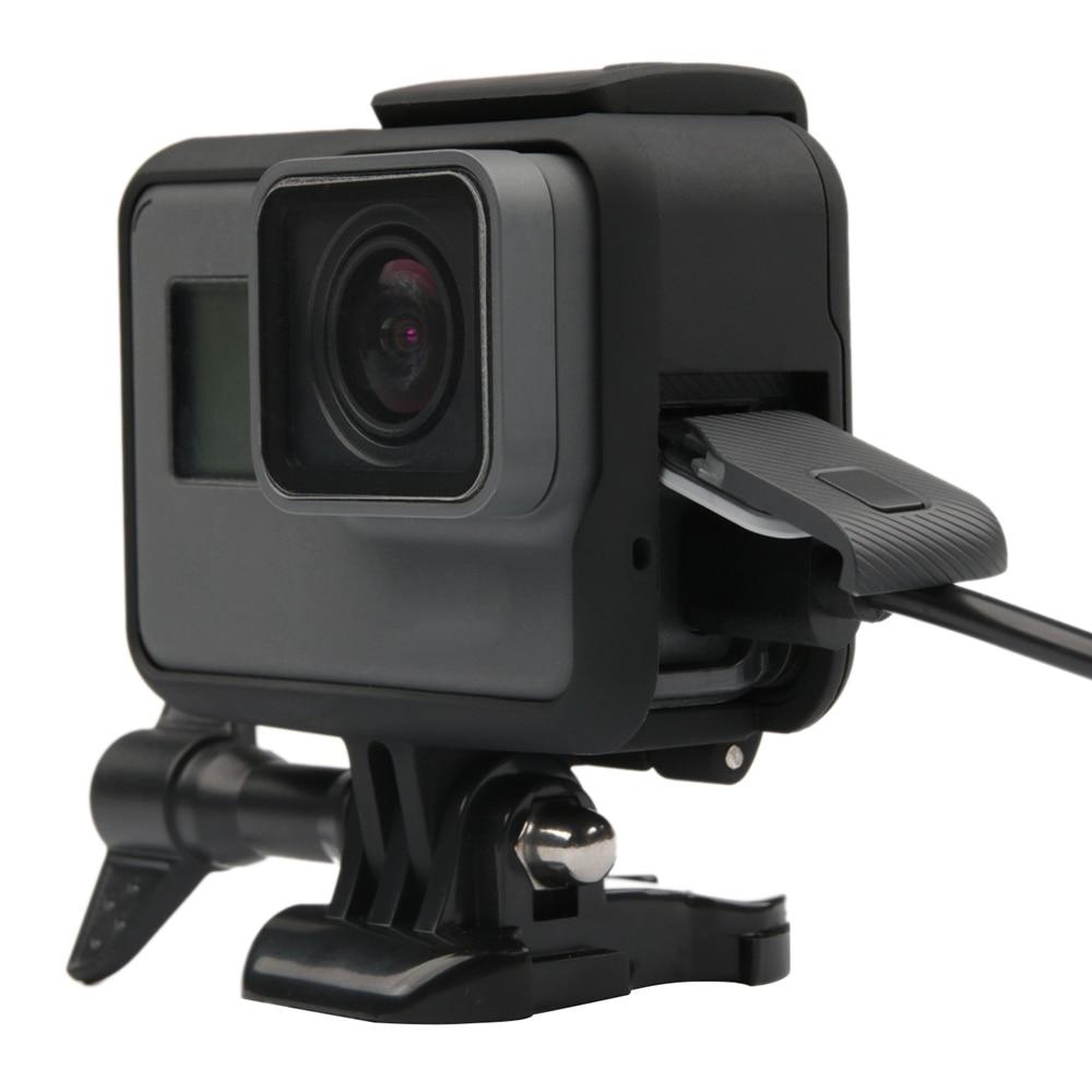 RuigPro marco estándar de montaje de alambre conectable funda Carcasa protectora para GoPro Hero 5 6 7 negro Go Pro Accesorios