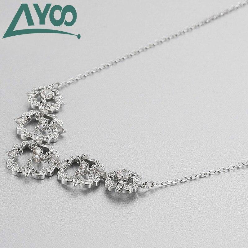 AYOO Charm Pure Original 11 copia, collar de cadena de clavícula elegante clásico para mujer Regalos de joyería de lujo