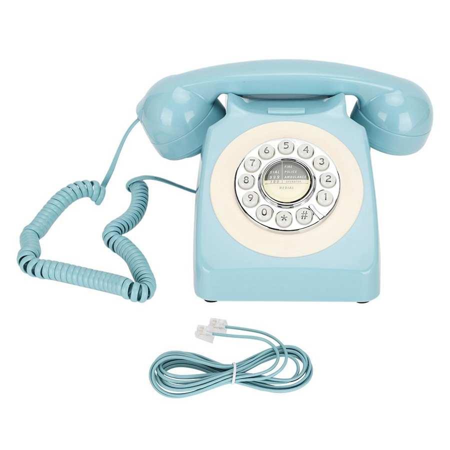 Teléfono Fijo Retro de CT-N8019, teléfono de escritorio multifuncional para el hogar...