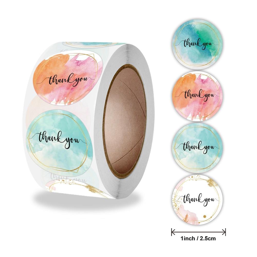 50-500-uds-grafiti-colorido-gracias-pegatina-redondo-de-1-pulgada-decoracion-de-etiquetas-para-negocio-bolsas-de-regalo-sobres-sello