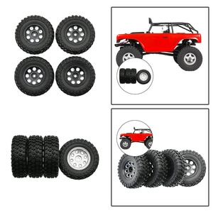 4Pack of Tires and Wheel Rims Set for Axial SCX24 AXI90081 AXI00001 Buggy