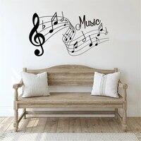 Autocollant mural de musique  chansons et Notes sonores  Sticker de mode  amovible  decor de chambre a coucher et de bureau