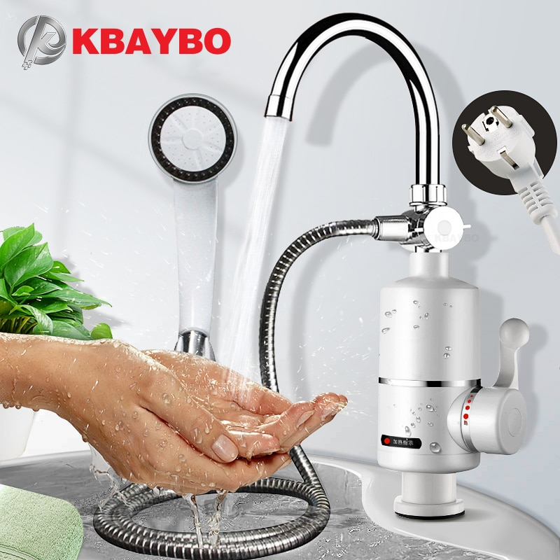 KBAYBO Electric Kitchen Water Heater Tap 3000WInstant Hot Faucet Heating Tankless Instantaneous