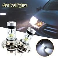 2pcs 80w 20smd led lamps for cars headlight bulbs h4 led fog light white 6000k 6500k auto 12v
