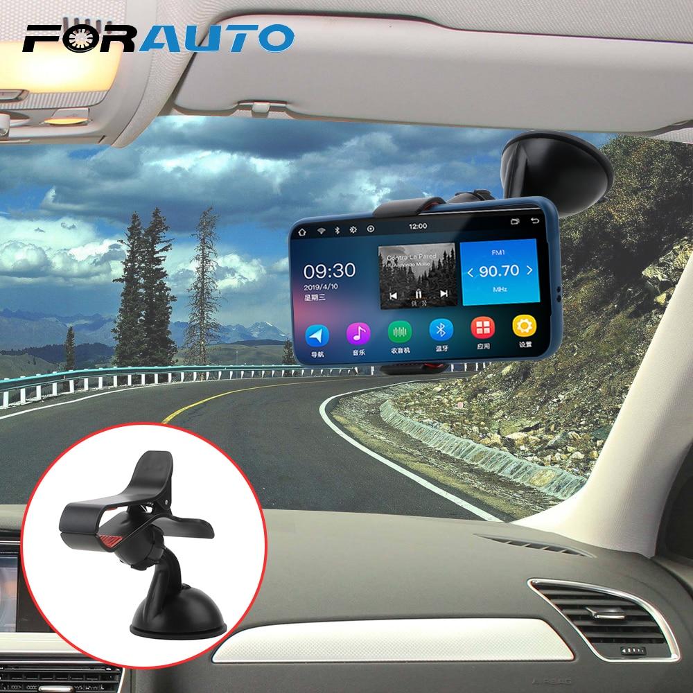 Soporte de teléfono para coche de 360 grados soporte giratorio para coche soporte de Clip para montaje en parabrisas soporte para teléfono móvil fuerte succión