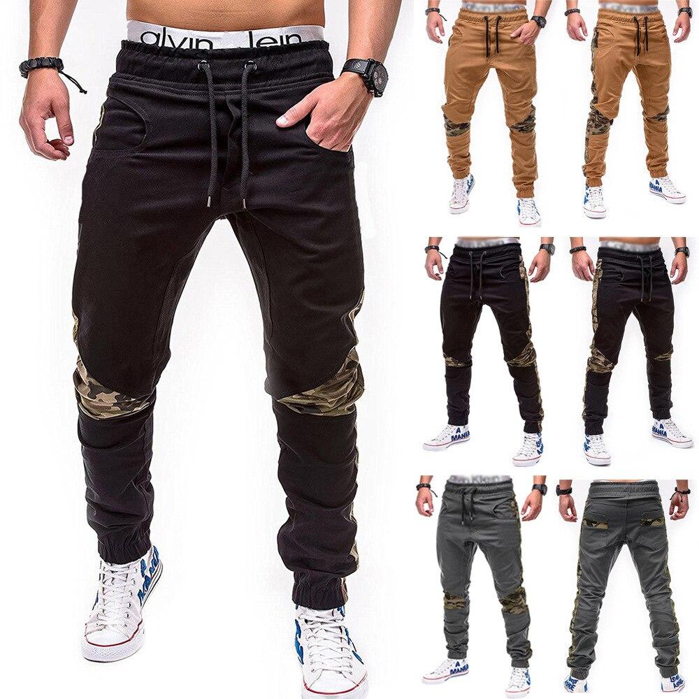 Брюки мужские камуфляжные с прострочкой, повседневные спортивные штаны-карго, модные мужские джоггеры, спортивные штаны для спортзала, хип-...