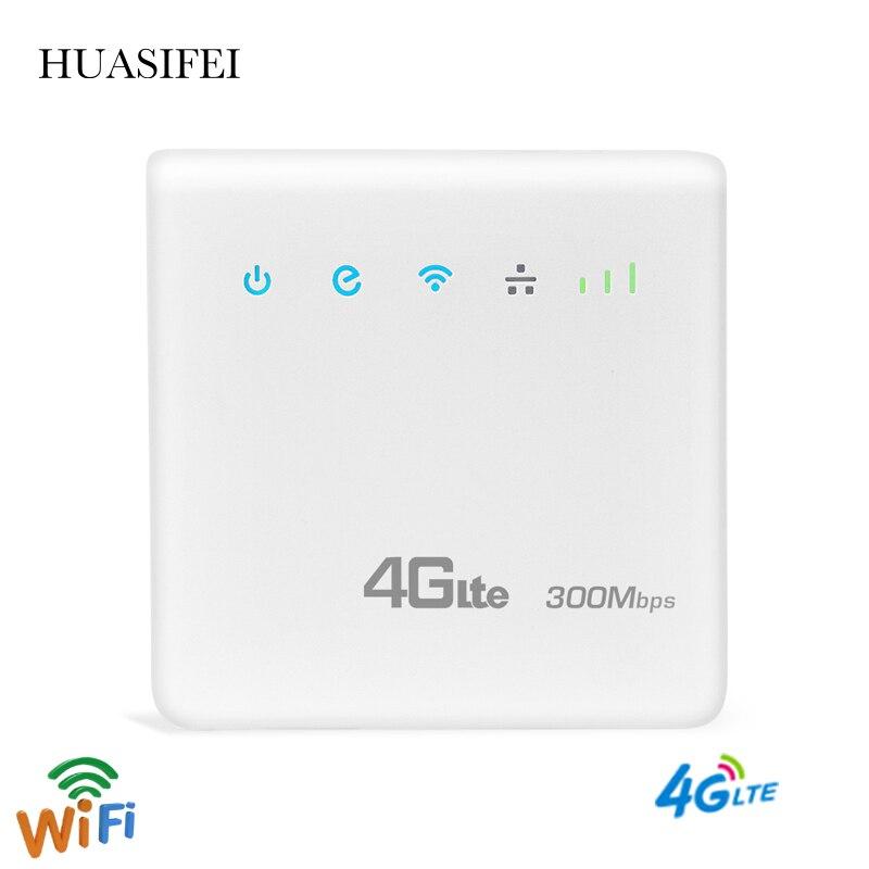 HUASIFEI LTE модем 4G Роутер 300 Мбит/с беспроводной Wifi 3G/4G LTE мобильные роутеры разблокированная глобальная точка доступа Wi-fi роутер с Sim-картой