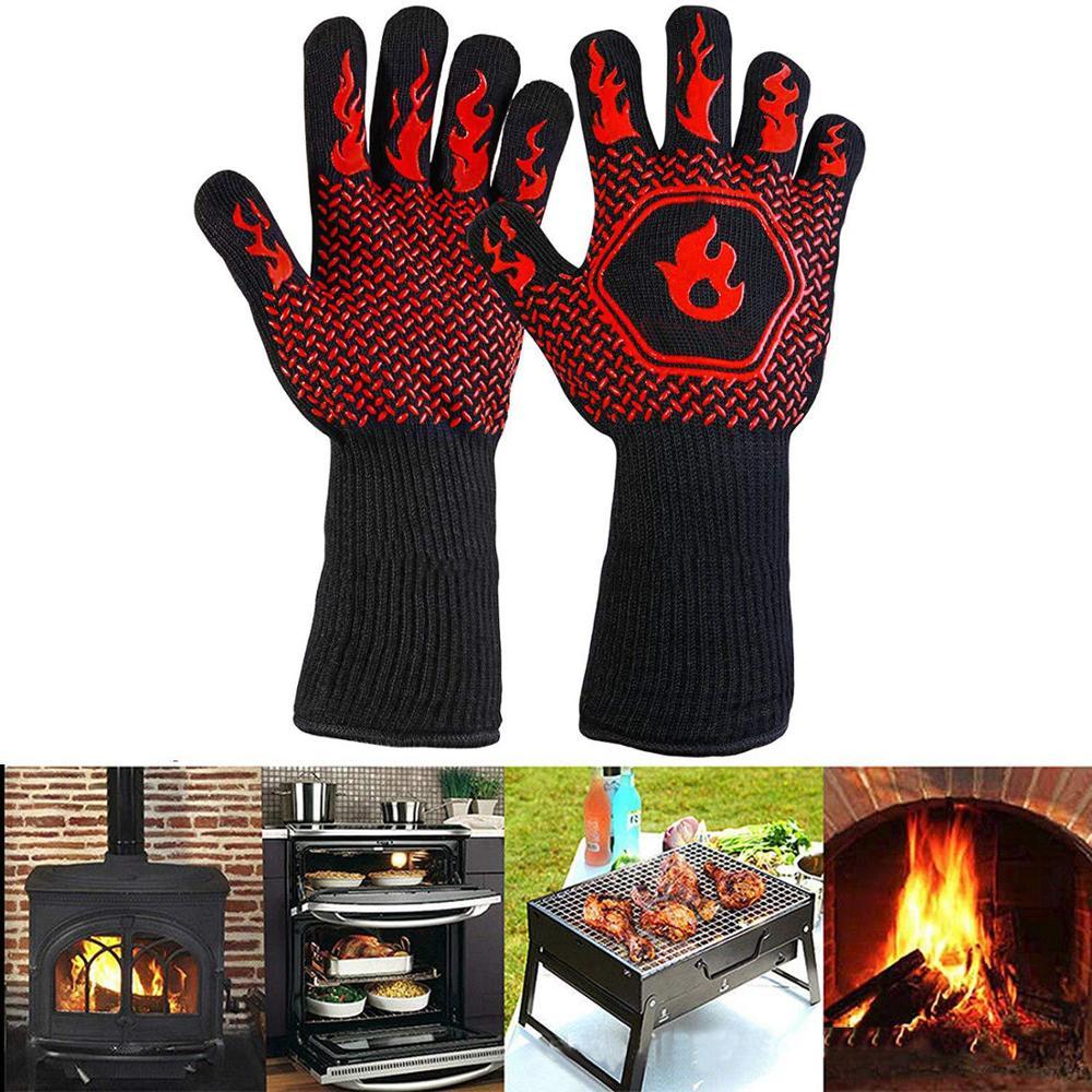 перчатки для барбекю с защитой от ожогов