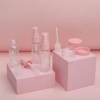 5pcs mini travel makeup cosmetic face cream pot bottles transparent plastic travel accessories empty make up container bottle