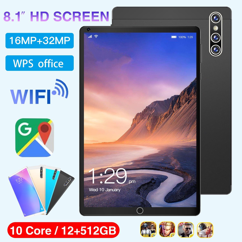 تابلت Y85 8.1 بوصة 12 + 512GB 10 Core 5G شبكة الاتصال أندرويد 11.0 اللوحي 8800 mAh شحن سوبر لتحديد المواقع واي فاي بلوتوث أقراص