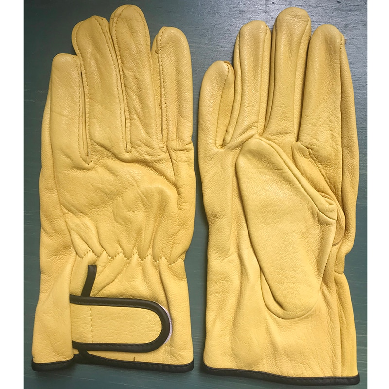 QIANGLEAF Special Sale Low Price Men's And Women's Sheep Leather Safety Protective Gloves For Youn