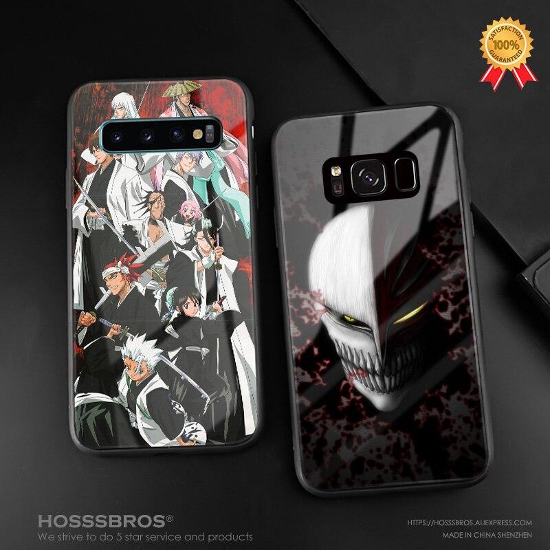 Bleach Ichigo Kurosaki Anime de silicona suave funda de vidrio templado para teléfono Shell para Samsung Galaxy S8 S9 S10e S10 Nota 8 9 10