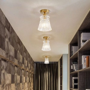Nordic aisle absorbs the creative individual character glass study porch lamp modern stair lamp contracted balcony lamp American