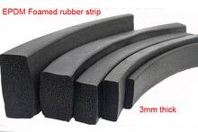 3mm EPDM Foam rubber strip EMDP rubber sealing strip square Versigard sponge bar electrical cabinet Marine waterproof strip