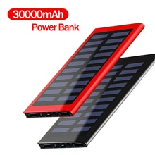 30000 mah banco de energia solar grande capacidade ultra fino 9mm com luz led carregador solar externo viagem powerbank para smartphone