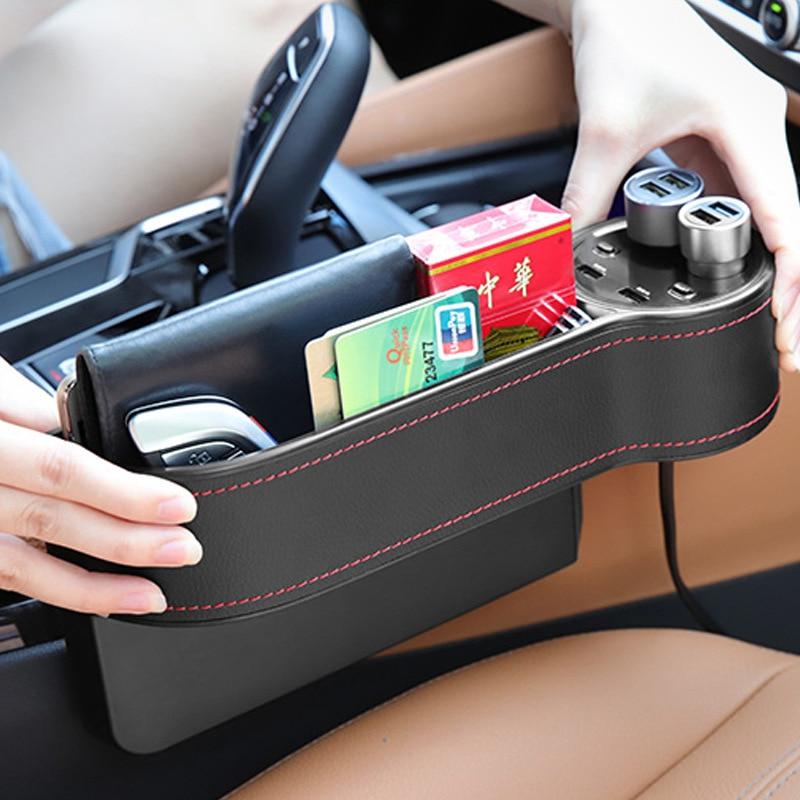 Auto para hueco de asiento de coche de cuero asiento de cuero...