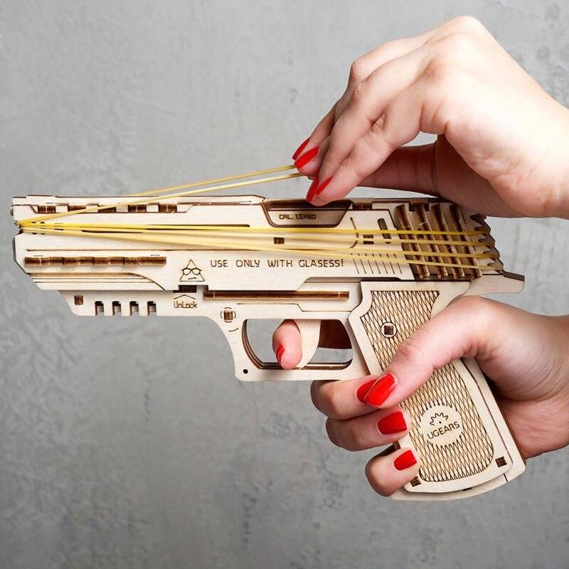 Fita de borracha atirar máquina montar arquivo de brinquedo cnc corte a laser cad dwg formato vetor desenho madeira compensada uso pronto arquivo corte e29
