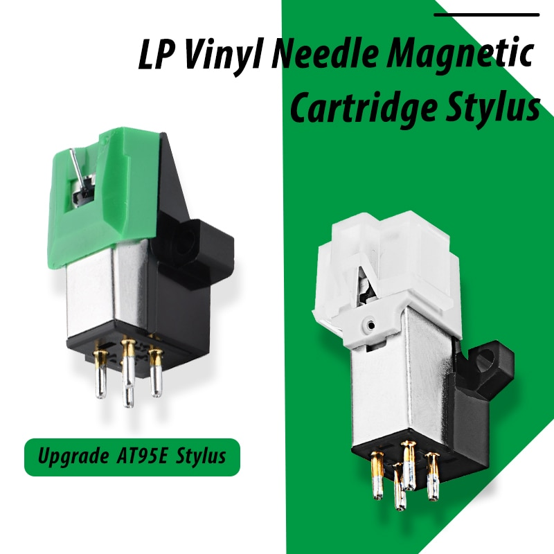 tocadiscos de vinilo vinil tocadiscos LEORY 1 Uds LP vinilo grabadora Player aguja magnética cartucho para puntero, accesorios para fonógrafo giradiscos gramófono