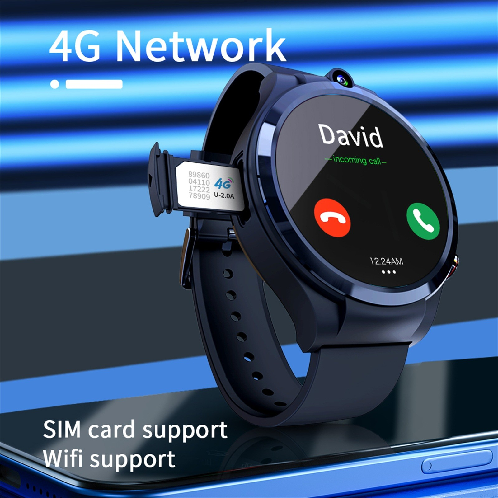 Promo Appllp 4 Smart Watch Phone Android 10.7 Wifi Dual Camera Full Round Touch 4g Smartwatches Men Ram 4g Rom 128g Gps Watch #3