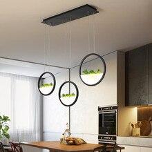 Pendentif LED moderne allume la lampe suspendue de luminaire décoratif dusine de cercle pour des lumières suspendues de salle à manger de Restaurant