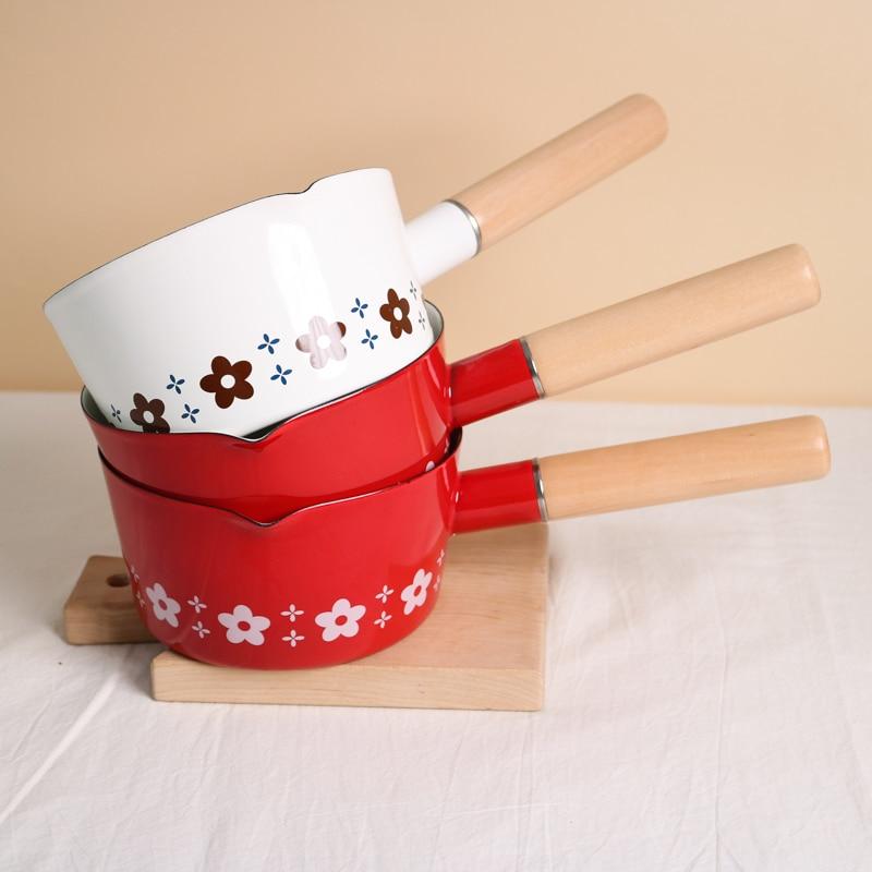 وعاء طهي كوري من الألومنيوم للحليب ، مقاوم للحرارة ، غاز ، جودة عالية ، غير لاصق ، لوازم المطبخ ، DE50NG