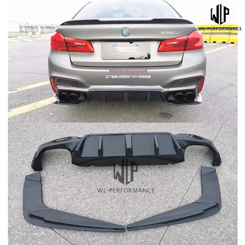 Hohe Qualität Carbon Fiber Hinten Diffusor Lip Seite Splitter Für BMW G30 G38 MT M5 Stil F90 3D Stil Auto körper kit 2018 2019