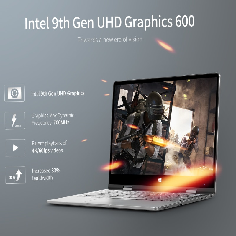 BMAX Y11  Laptop Intel N4120 8GB RAM 256GB SSD Windows10 1920*1080 Quick Charge 360 Rotating Touch Screen 11.6