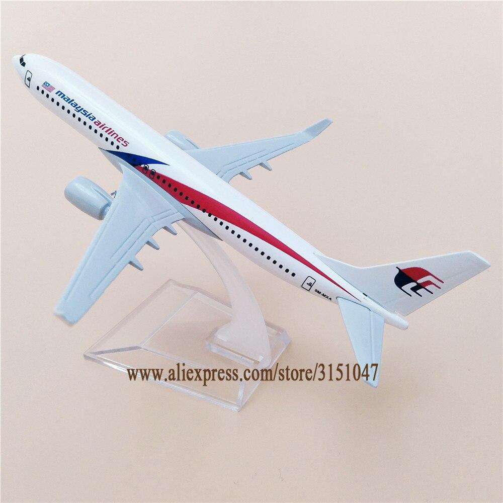 Air Malaysia Airlines Boeing 737 B737 Airways modelo de avión de aleación de Metal modelo de avión Diecast aviones 16cm regalo