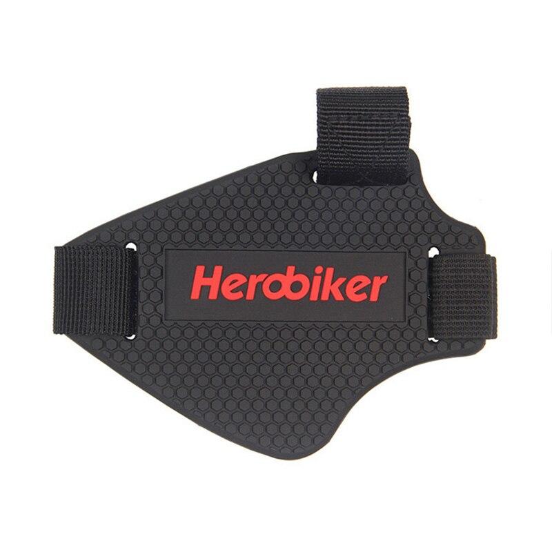 HEROBIKER zużycie-odporna guma przekładnia motocyklowa Shift Pad buty jeździeckie Scuff Mark Protector motocykl pokrowiec na buty Shifter Guards
