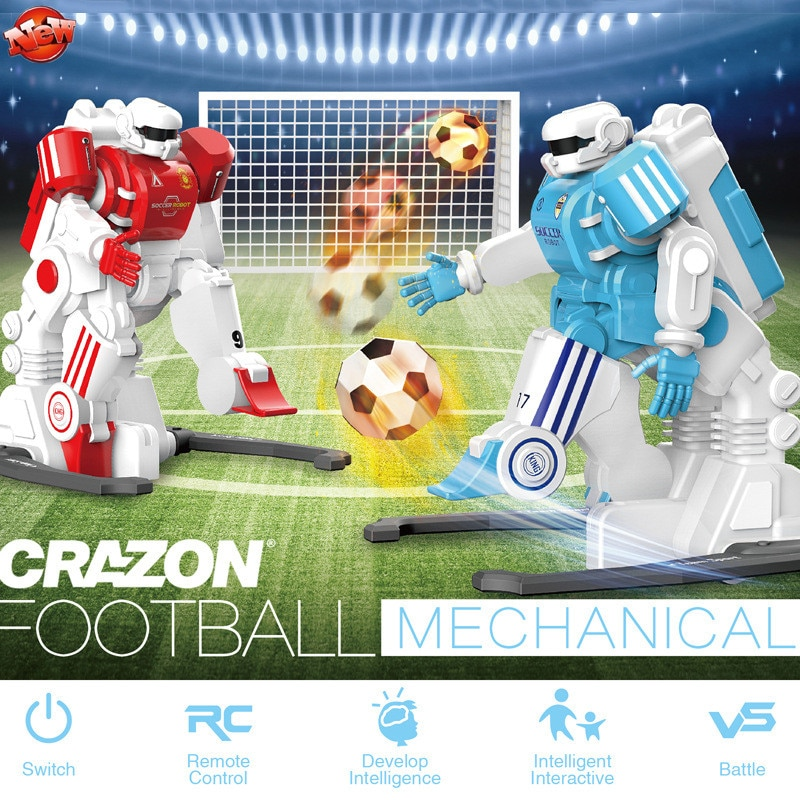 Funny Parent-Child Interaction Kids Toy 2.4G 30MINS Simulation Remote Control Mini Game Battle Football Soccer RC Robot Toy