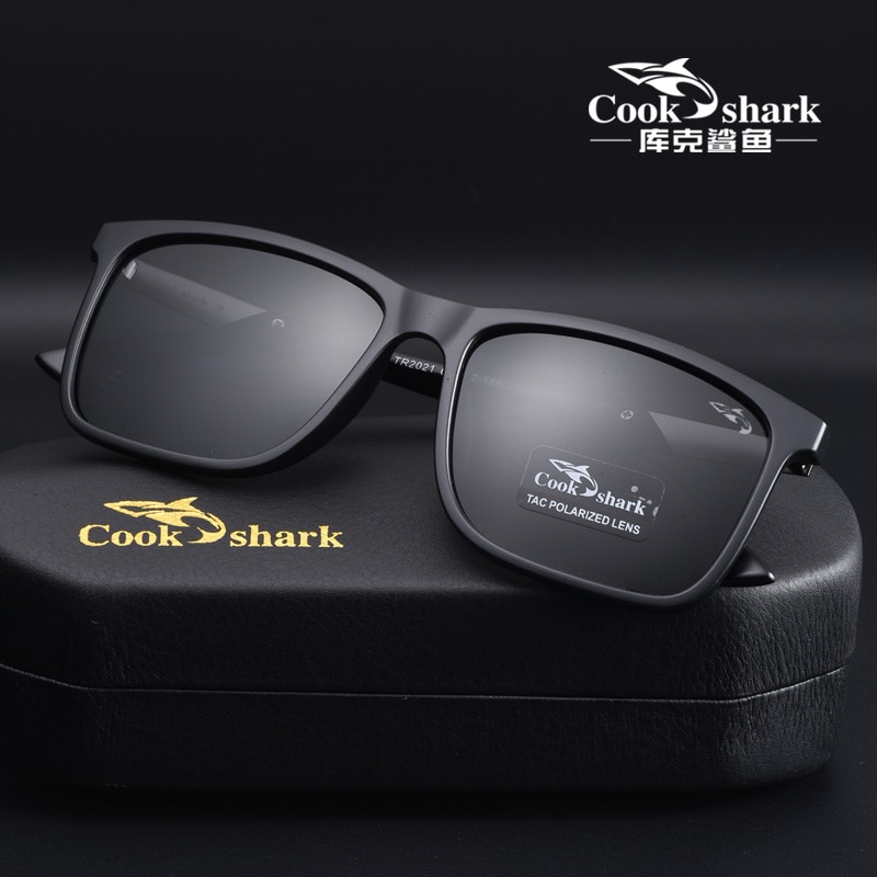 Cook Shark Men's Polarized Sunglasses Driving Special Color Change Day and Night Drivers Driving Sunglasses Men's Tide optometry color blindness color deficiency test book 2018 new xith edition color blindness pattern testing driving sunglasses