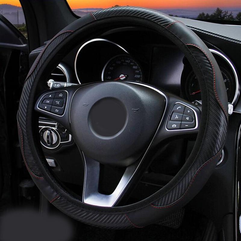 Cubierta de volante redonda, accesorios, piezas de repuesto, elástico negro