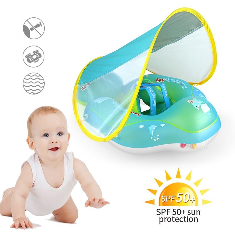anello-da-nuoto-per-bambini-swimbobo-anello-sdraiato-anello-ascellare-gonfiabile-in-pvc-verde-addensato-con-giocattoli-per-piscina-parasole