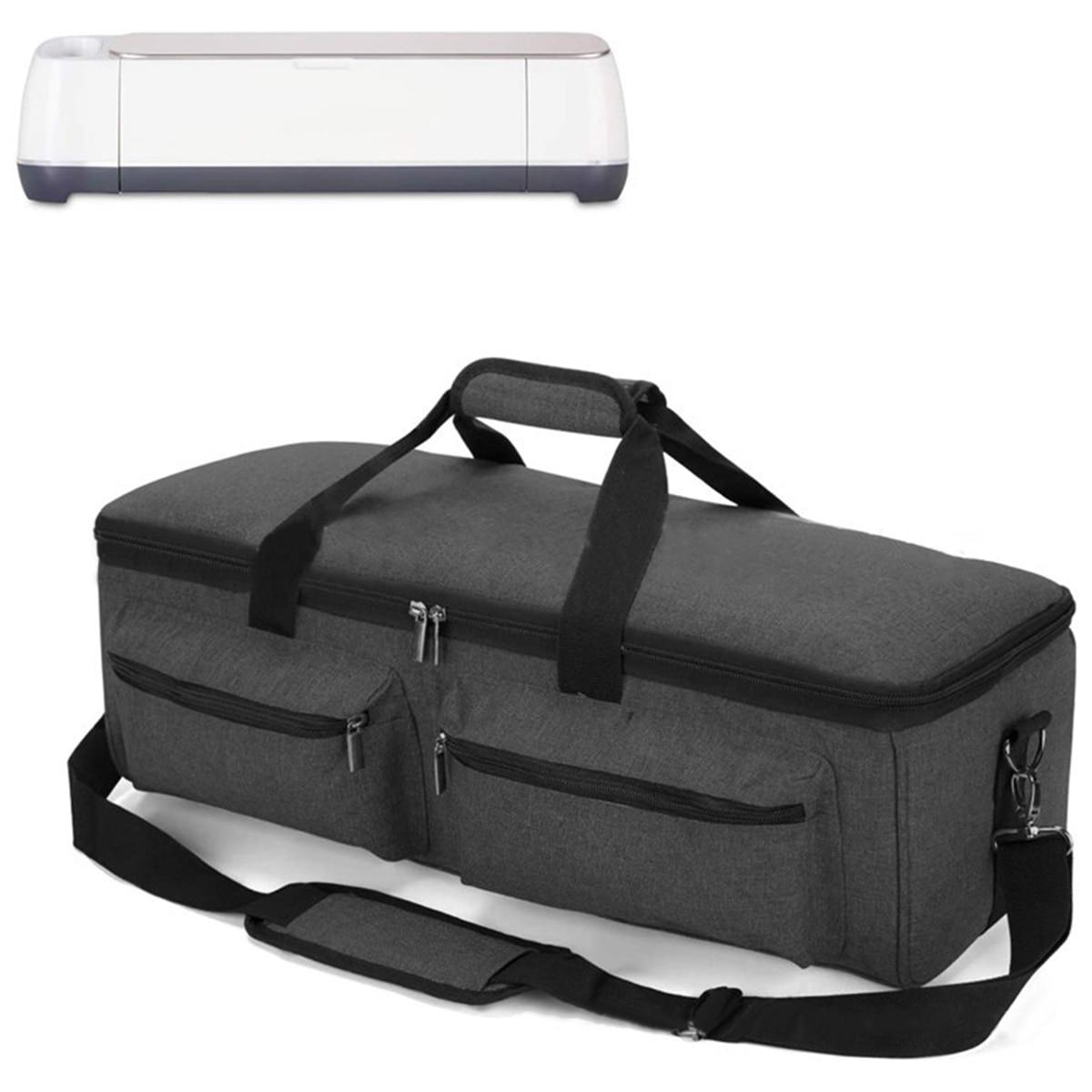 Bolsa de transporte Bolso grande para almacenamiento para Cricut Explore Air, fabricante de Cricut, camafeo de silueta 4 gris púrpura rosa