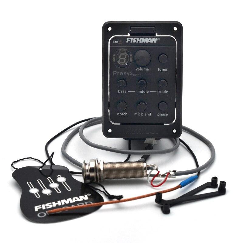 ملحقات آلة الجيتار طراز 301 من FISHMAN Presys مزدوجة المزج بميكروفون جهاز موالف طراز Preamp EQ جهاز ضبط البيك اب بيزو 201/101/Isys