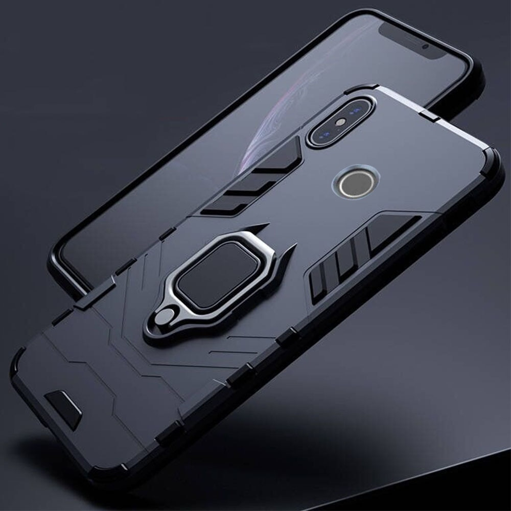 For Xiaomi Redmi Note 5 6 Pro Case Armor PC Cover Metal Ring Holder Phone Case for Mi A2 A 2 lite Co