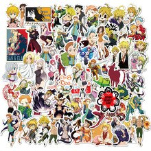 10/50/100Pcs The Seven Deadly Sins Anime Sticker Cartoon Sticker for Skateboard Motorcycle Scrapbook Diy Toy Laptop Snowboard